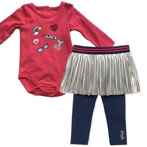 Juicy Couture Baby Girl 2-Piece Skegging Set